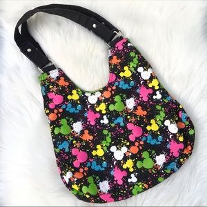 Disney Parks Mickey Mouse Splatter Canvas Tote Bag